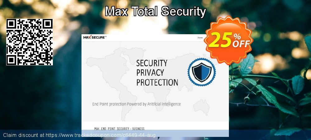 Get 25% OFF Max Total Security offer