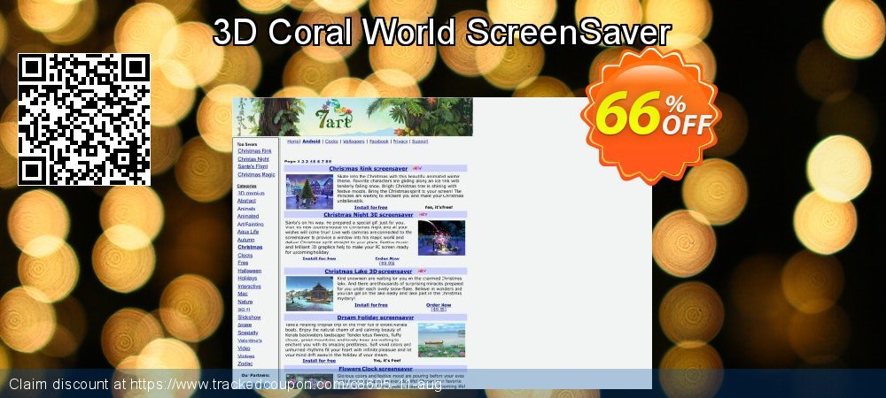 Get 60% OFF 3D Coral World ScreenSaver promo