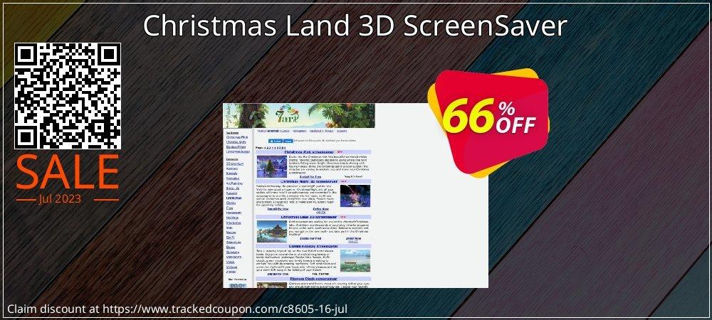 Get 60% OFF Christmas Land 3D ScreenSaver promo
