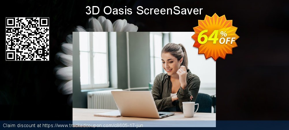 Get 60% OFF 3D Oasis ScreenSaver offering sales