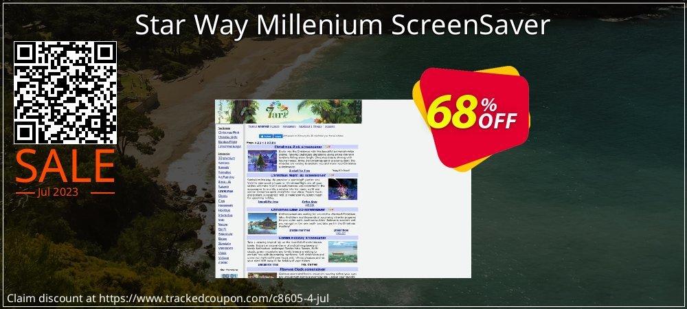 Get 60% OFF Star Way Millenium ScreenSaver offering sales