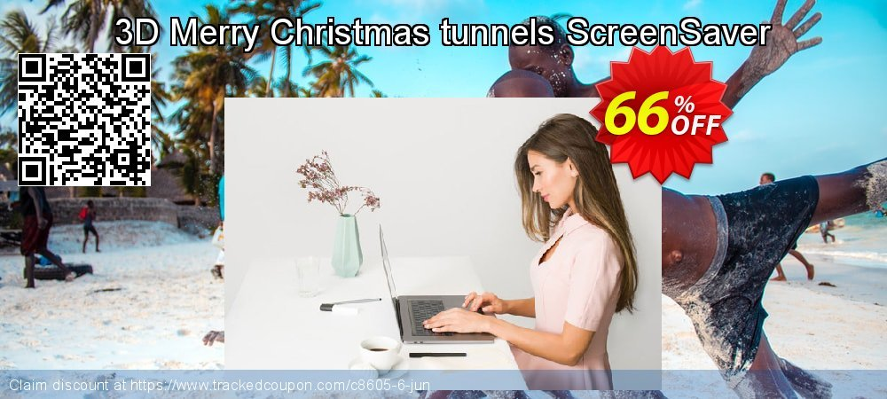 Get 60% OFF 3D Merry Christmas tunnels ScreenSaver offering sales
