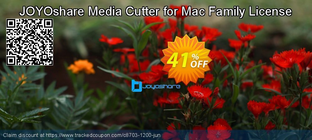 JOYOshare Media Cutter for Mac Family License coupon on New Year offer