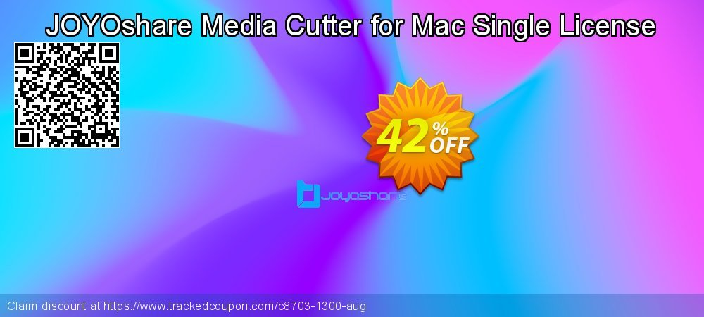 JOYOshare Media Cutter for Mac Single License coupon on New Year discount