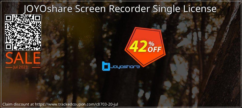 JOYOshare Screen Recorder Single License coupon on New Year deals