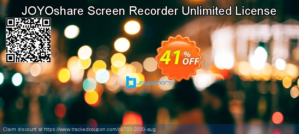 JOYOshare Screen Recorder Unlimited License coupon on New Year deals