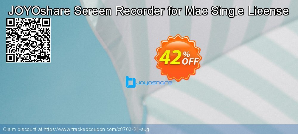 JOYOshare Screen Recorder for Mac Single License coupon on New Year's Day offer