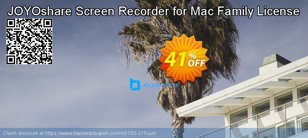JOYOshare Screen Recorder for Mac Family License coupon on Happy New Year offer