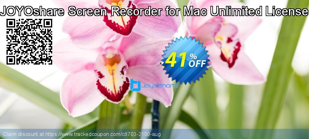 JOYOshare Screen Recorder for Mac Unlimited License coupon on New Year offer