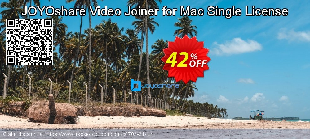 JOYOshare Video Joiner for Mac Single License coupon on Lunar New Year discount