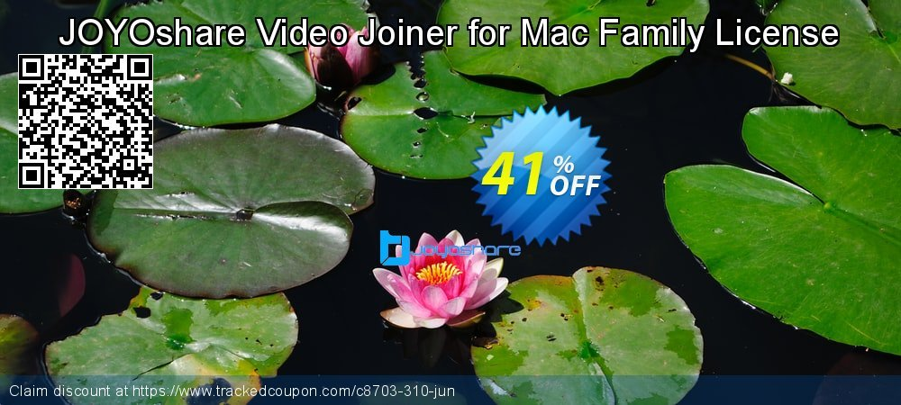 JOYOshare Video Joiner for Mac Family License coupon on Happy New Year discount