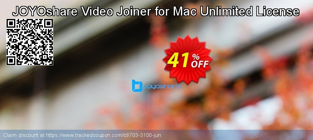 JOYOshare Video Joiner for Mac Unlimited License coupon on New Year discount