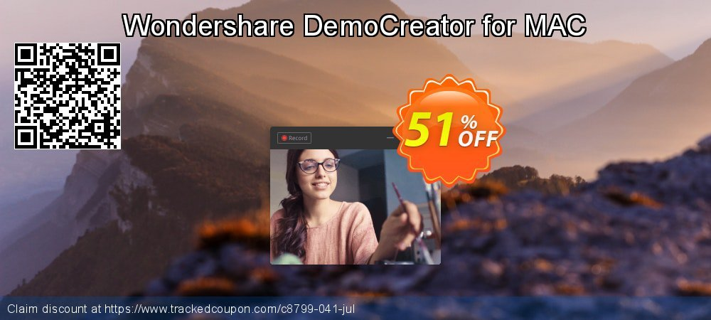 Wondershare DemoCreator for MAC coupon on Easter Sunday offering discount