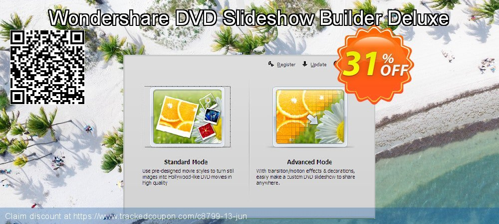 Wondershare DVD Slideshow Builder Deluxe for Windows coupon on Back to School promo discounts