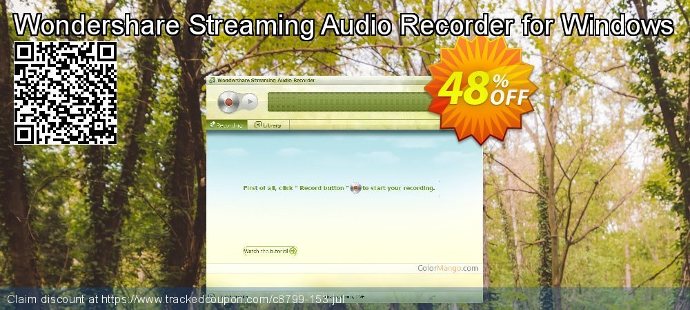 Wondershare Streaming Audio Recorder for Windows coupon on New Year's Day offering sales