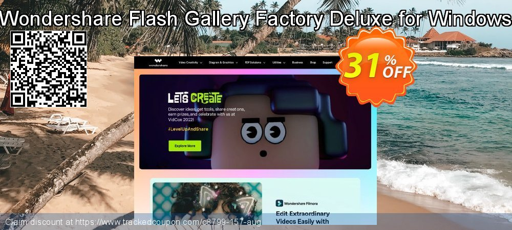 Wondershare Flash Gallery Factory Deluxe for Windows coupon on Easter Sunday discount
