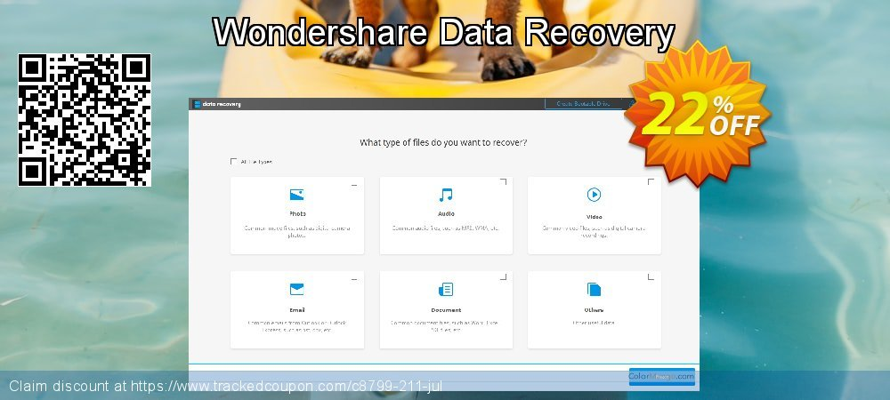 Wondershare Data Recovery for Windows coupon on Spring discount