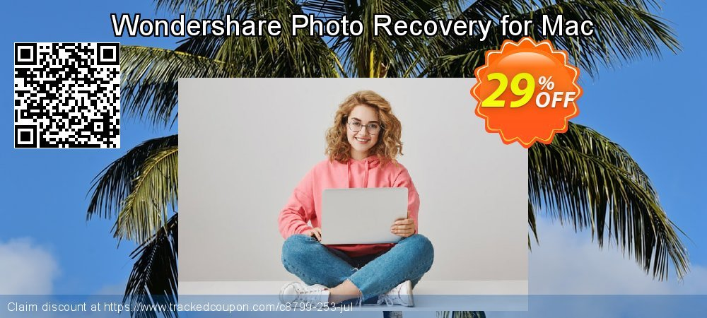 Wondershare Photo Recovery for Mac coupon on Summer promotions