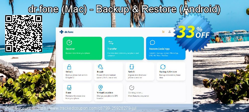 Claim 33% OFF dr.fone - Mac - Backup & Restore - Android Coupon discount March, 2020
