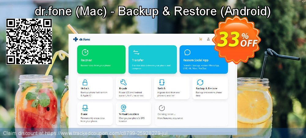 dr.fone - Mac - Backup & Restore - Android  coupon on Valentine's Day offering sales