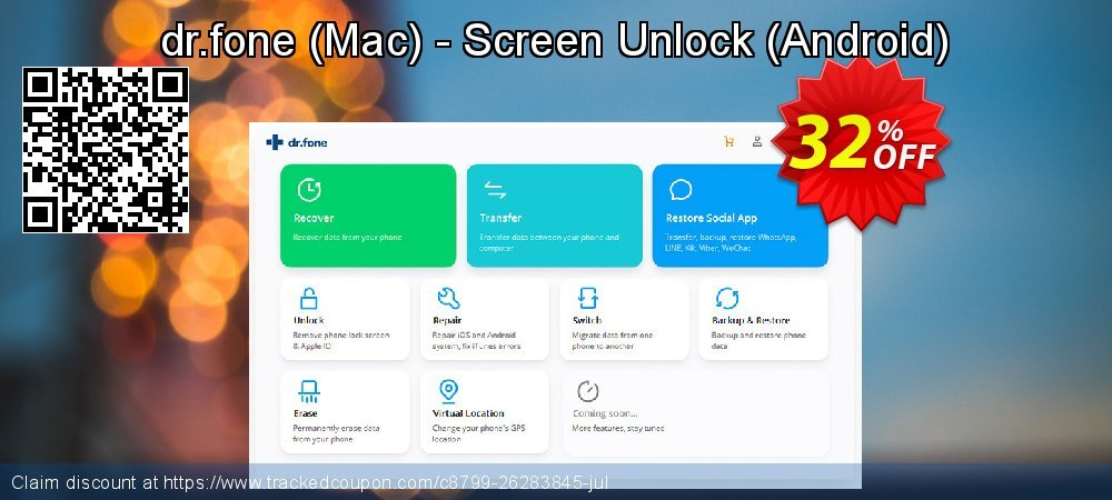 dr.fone - Mac - Screen Unlock - Android  coupon on Back to School coupons offering sales