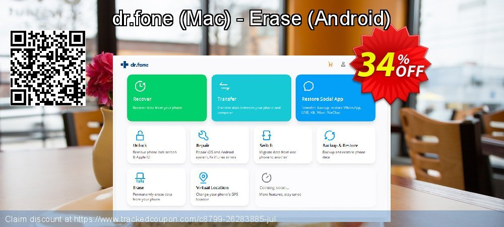 Claim 34% OFF dr.fone - Mac - Erase - Android Coupon discount March, 2020