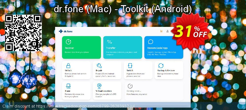 Claim 31% OFF dr.fone - Mac - Toolkit - Android Coupon discount October, 2019