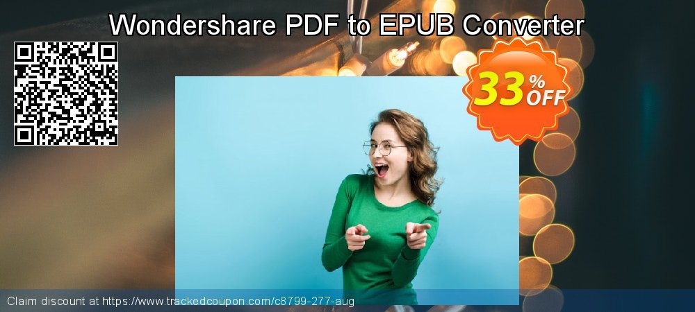 Wondershare PDF to EPUB Converter coupon on Halloween discount