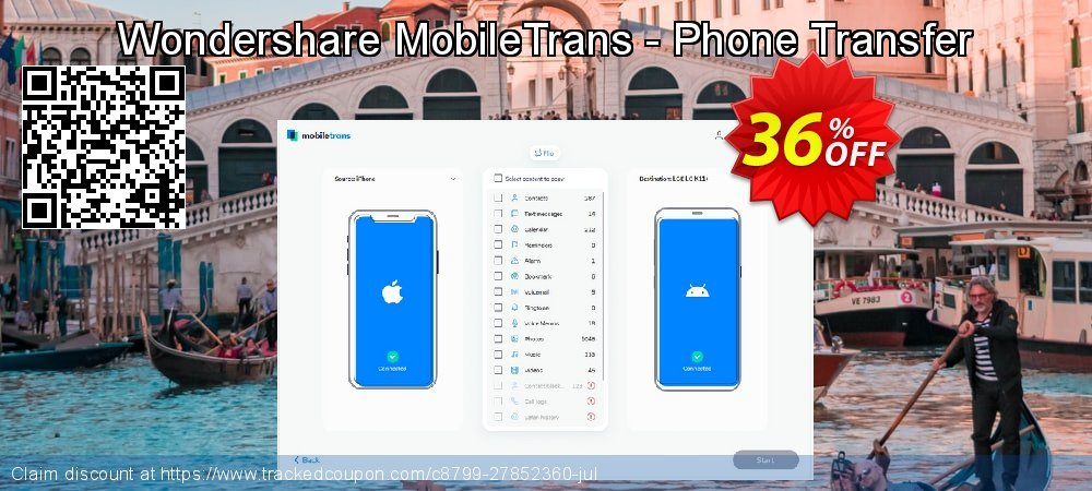 Wondershare MobileTrans - Phone Transfer coupon on April Fool's Day offering sales