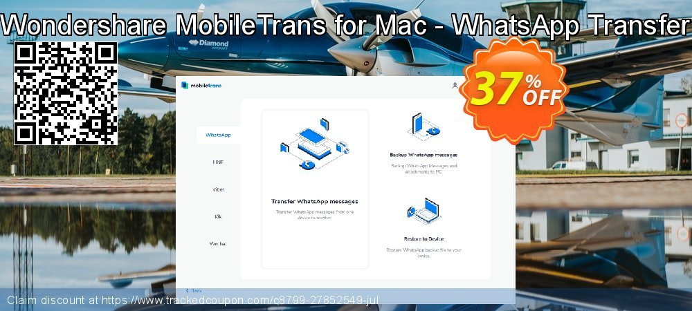 Wondershare MobileTrans for Mac - WhatsApp Transfer coupon on Back to School promotions deals