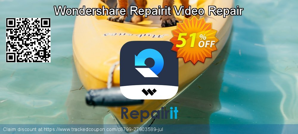Wondershare Video Repair coupon on Easter Sunday super sale