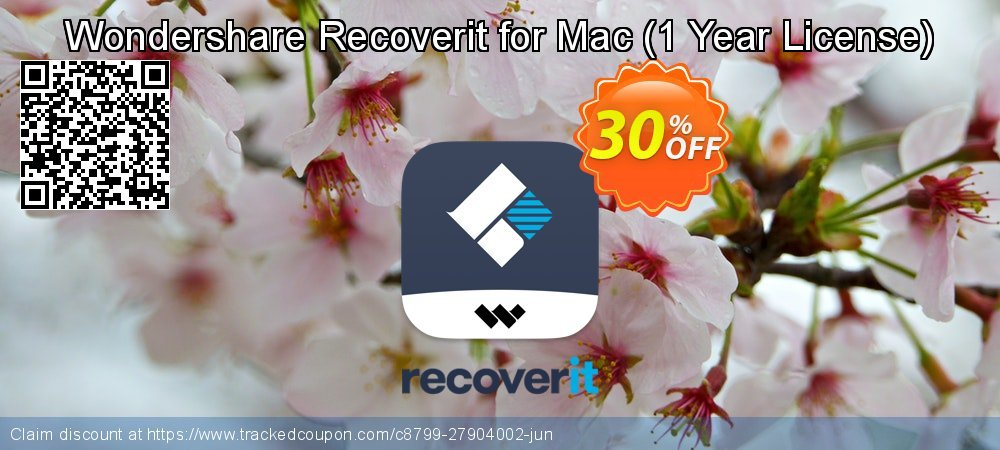 Claim 30% OFF Wondershare Recoverit for Mac - 1 Year License Coupon discount August, 2021