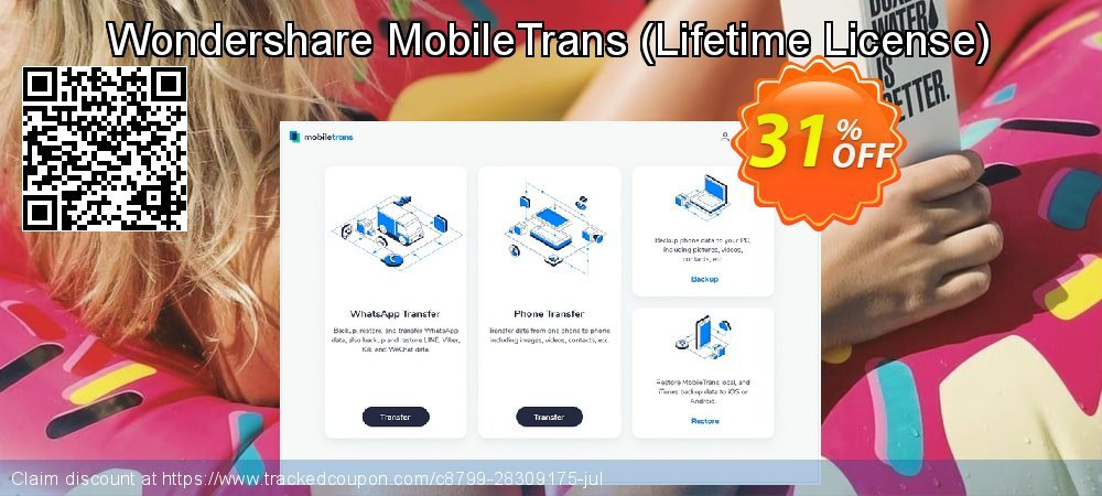 Wondershare MobileTrans - Lifetime License  coupon on May Day sales