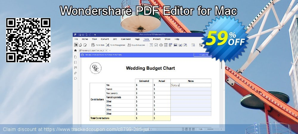 Wondershare PDF Editor for Mac coupon on Back to School season sales