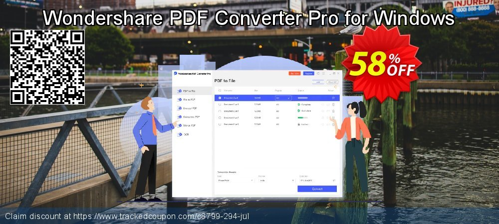 Wondershare PDF Converter Pro for Windows coupon on Halloween offer