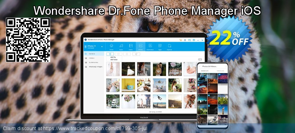 Wondershare Dr.Fone Phone Manager iOS coupon on Halloween offering discount