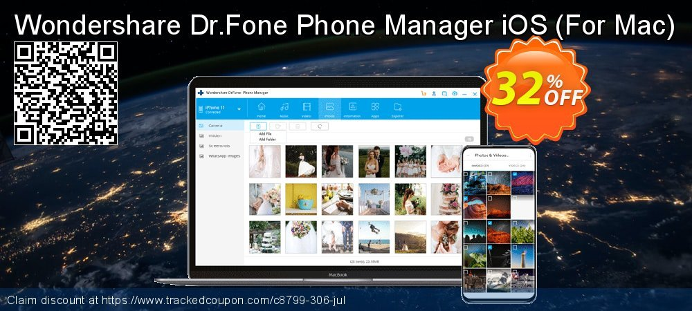 Wondershare Dr.Fone Phone Manager iOS - For Mac  coupon on Xmas discounts