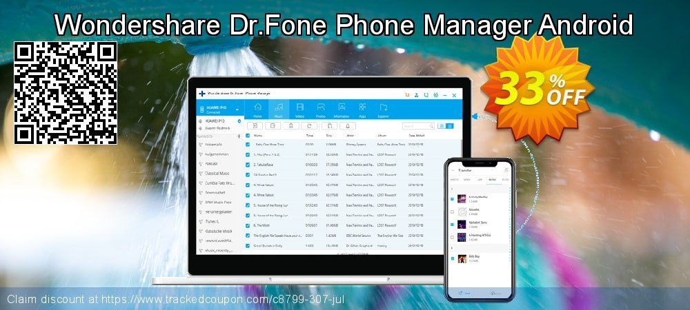 Wondershare Dr.Fone Phone Manager Android coupon on Black Friday discounts