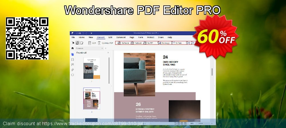 Wondershare PDF Editor PRO coupon on Int. Workers' Day deals