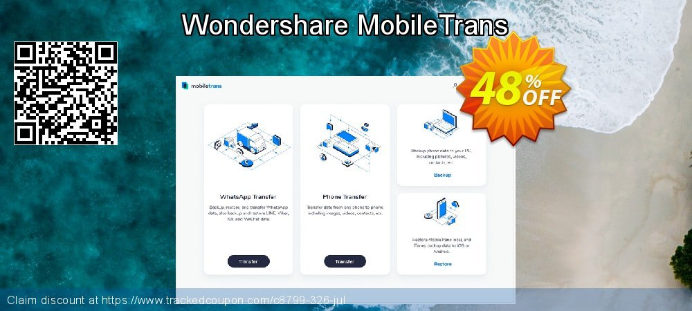 Wondershare MobileTrans coupon on Halloween discounts