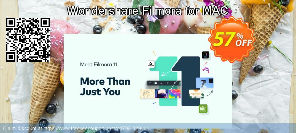 Wondershare Filmora for MAC coupon on Easter Sunday offering discount