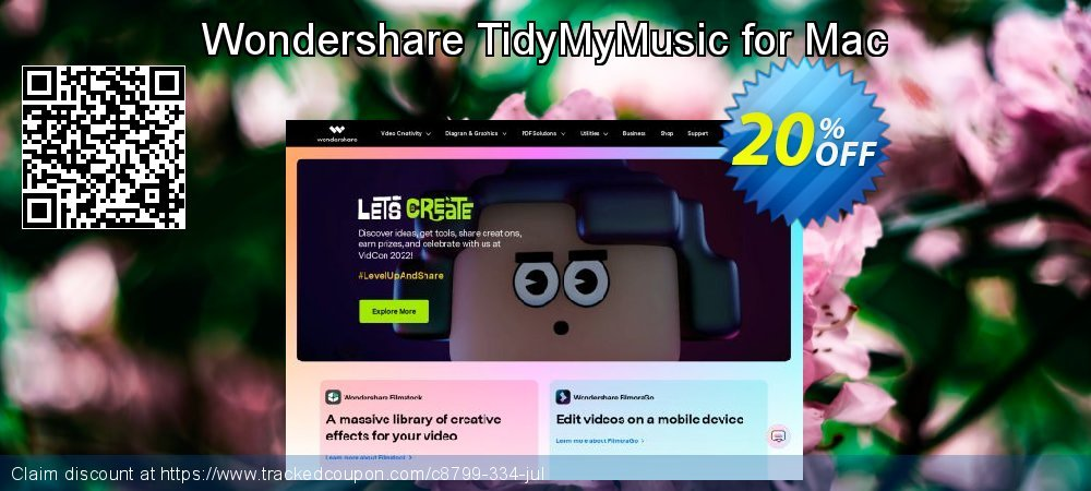 Wondershare TidyMyMusic for Mac coupon on Easter sales