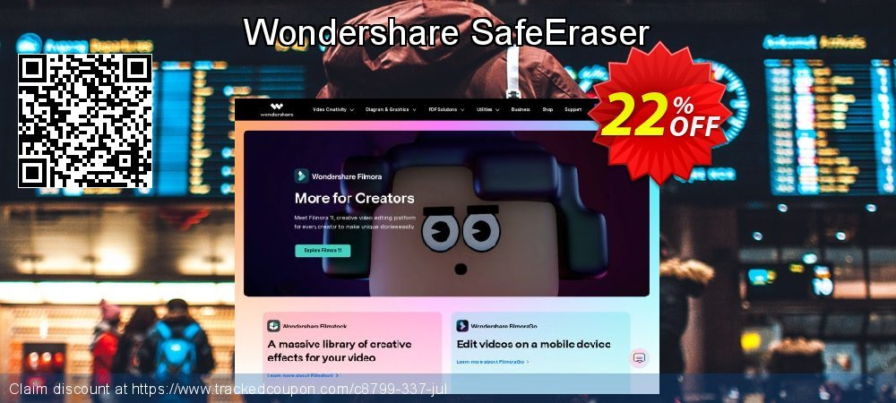 Wondershare SafeEraser coupon on Exclusive Student deals discounts