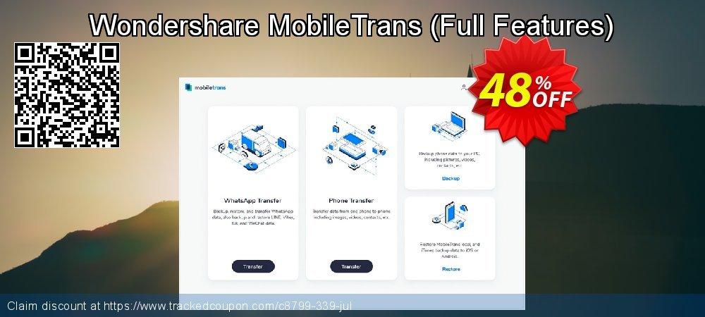 Wondershare MobileTrans - Special Price  coupon on Mid-year deals