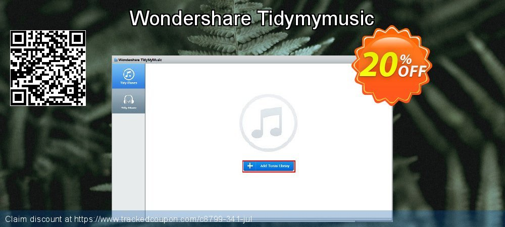 Wondershare Tidymymusic coupon on Halloween offering discount