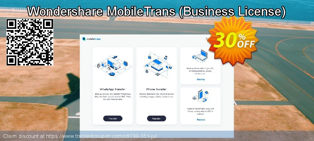 Wondershare MobileTrans - Business License  coupon on Halloween offering sales