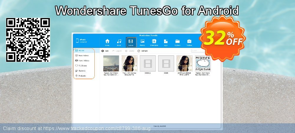 Wondershare TunesGo for Android coupon on Happy New Year offering discount