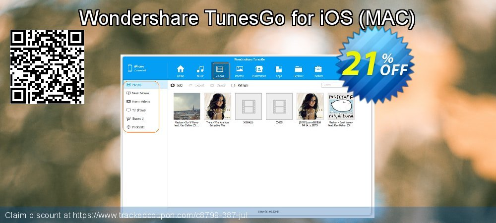 Wondershare TunesGo for iOS - MAC  coupon on Lunar New Year offering sales