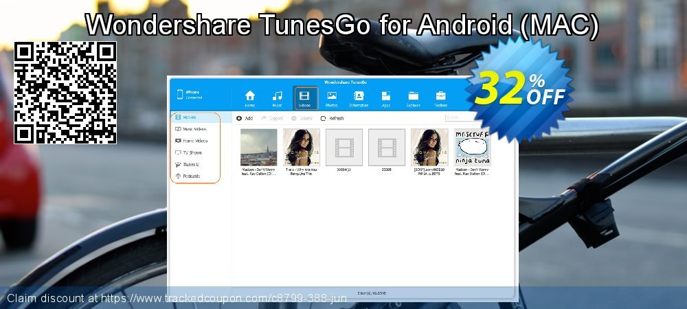 Wondershare TunesGo for Android - MAC  coupon on Halloween super sale