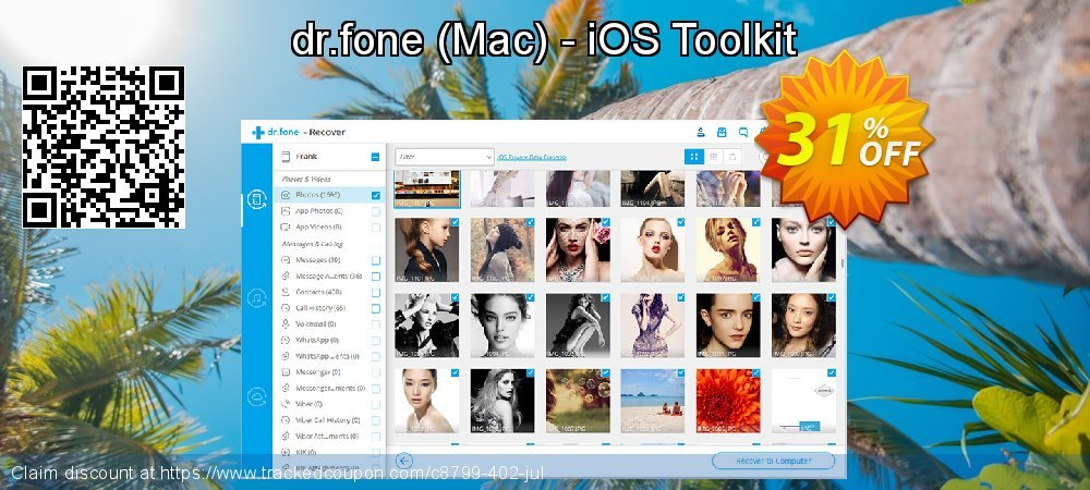Claim 31% OFF dr.fone - Mac - iOS Toolkit Coupon discount March, 2020